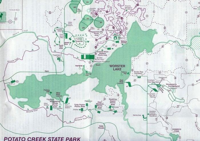 Map Of Potato Creek Yelp: Potato Creek State Park Map At Usa Maps