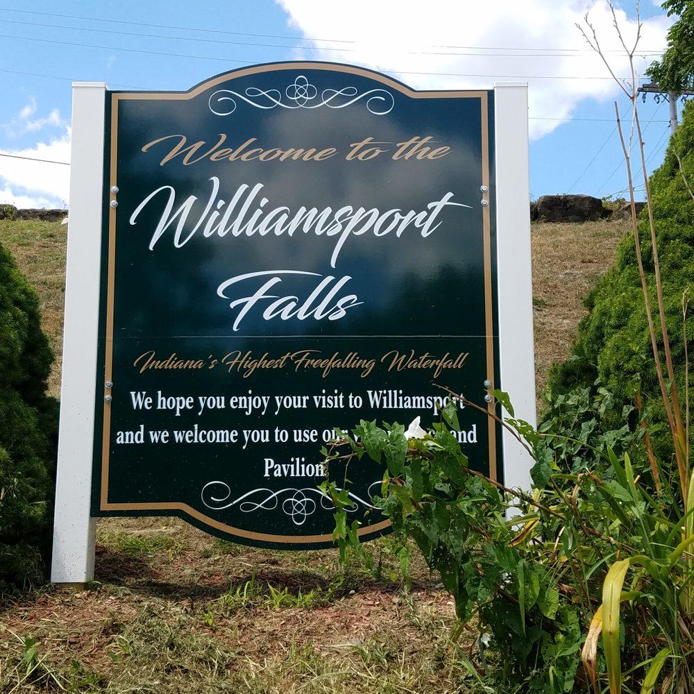 Williamsport Falls: 25 N Monroe St, Williamsport, IN