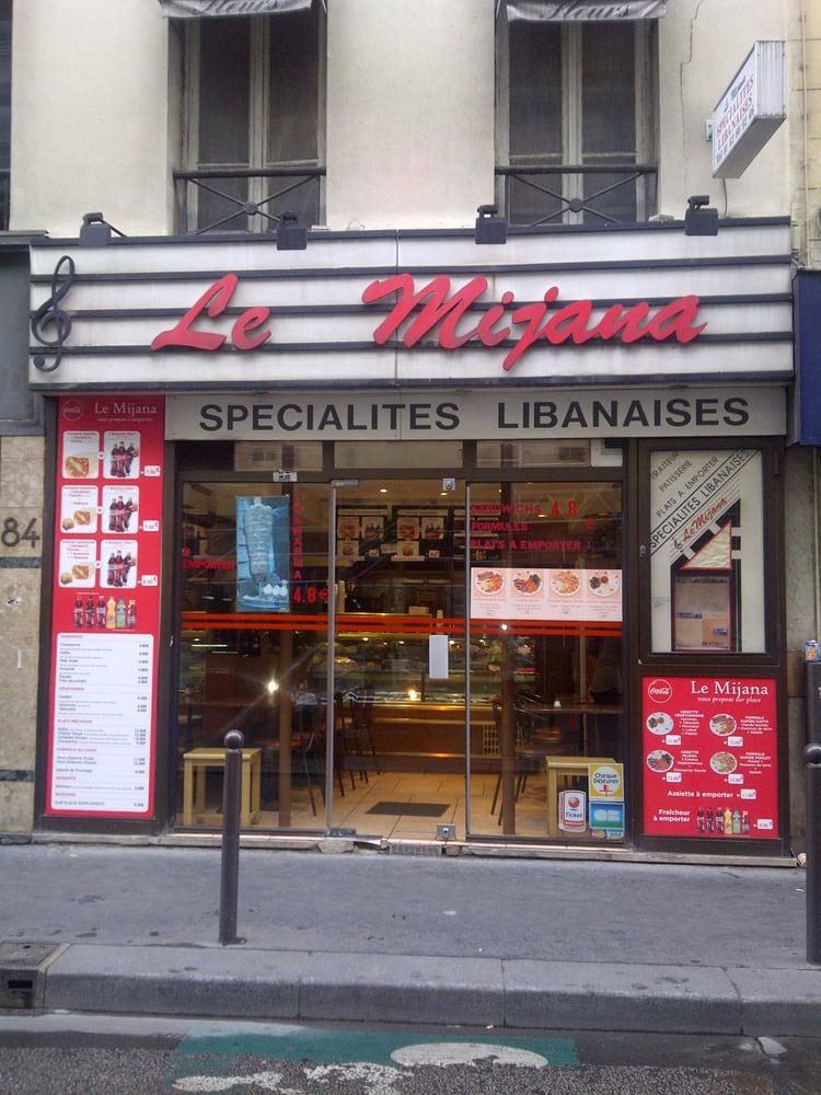 Le mijana takeaway fast food 84 rue provence saint lazare grands magasins paris france - Restaurant saint lazare paris ...