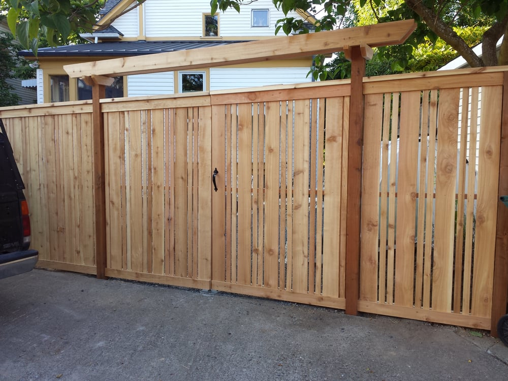 Rv Gate Has Double Doors With And Cedar Arbor Over Top To