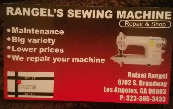 Rangel's Sewing Machine Appliances Repair 40 S Broadway Inspiration Sewing Machine Repair San Jose