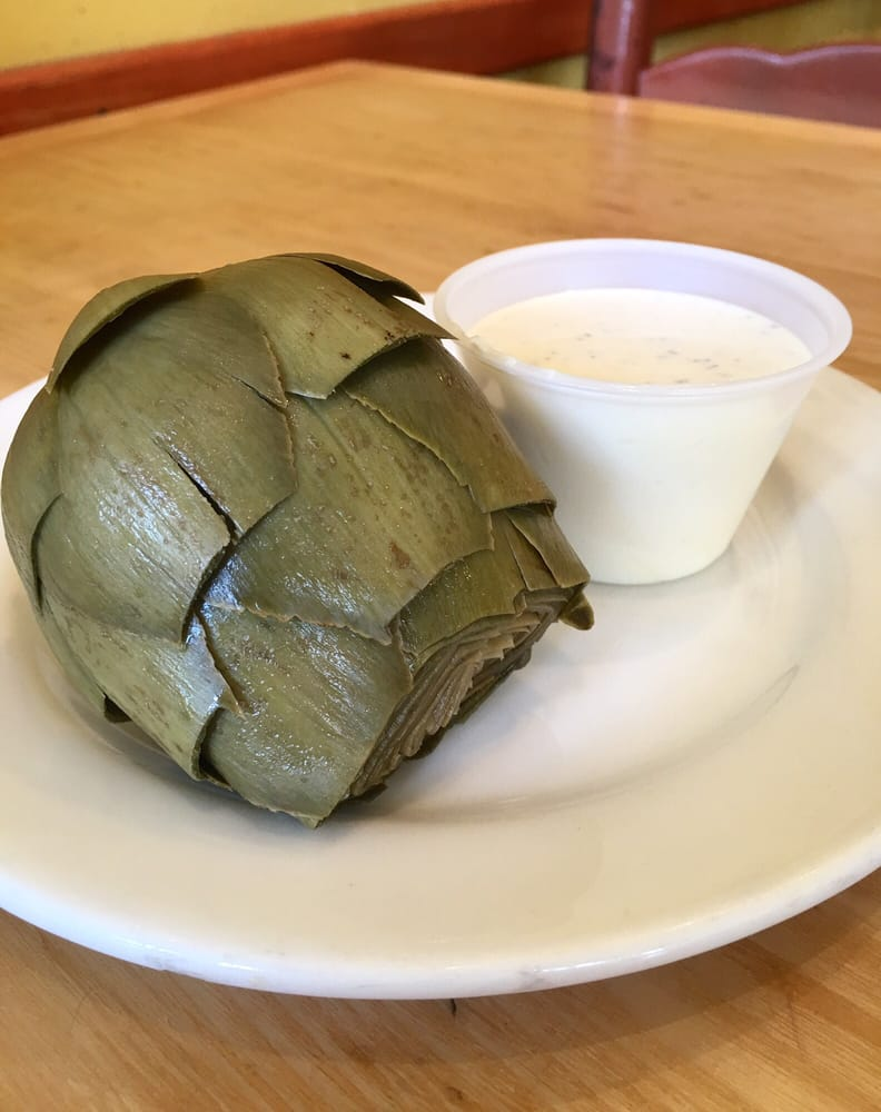 Steamed artichoke with ranch yelp for Phil s fish market moss landing