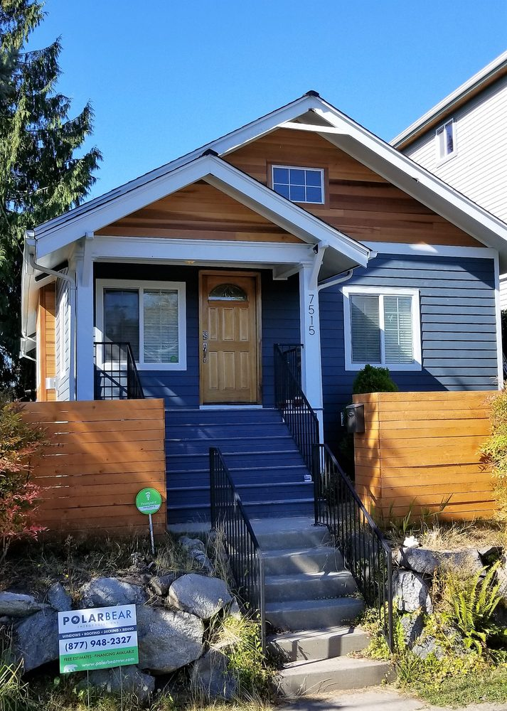 Ballard Craftsman After With James Hardie Siding And Clear Cedar