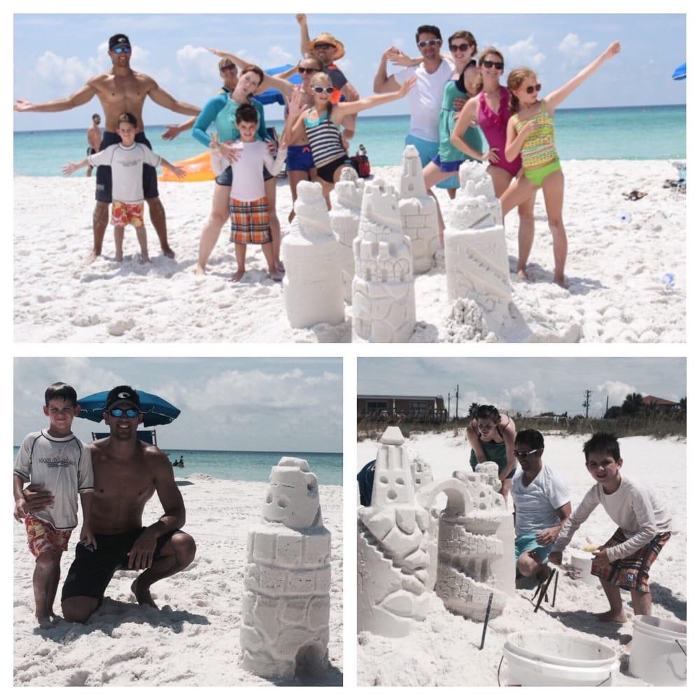 SandCastle Lessons W/ Beach Sand Sculptures