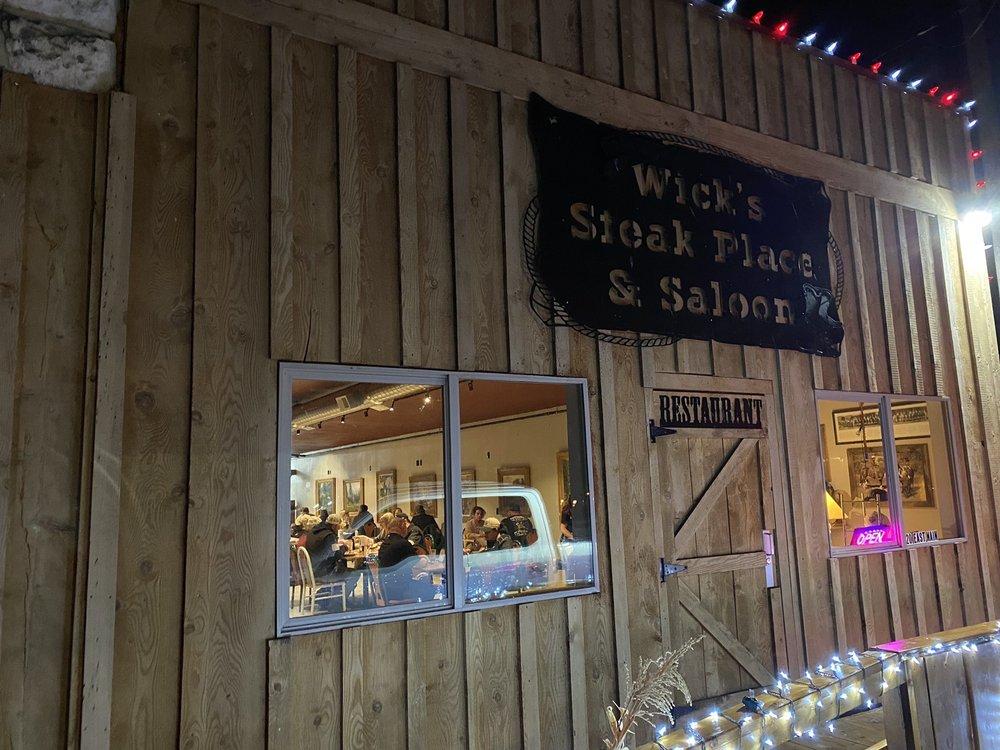 Wick's Steak Place: 18 East Main St, Declo, ID