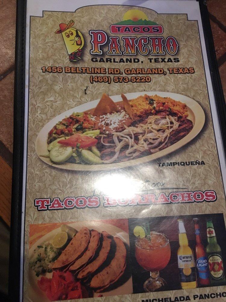 Chacos food menu