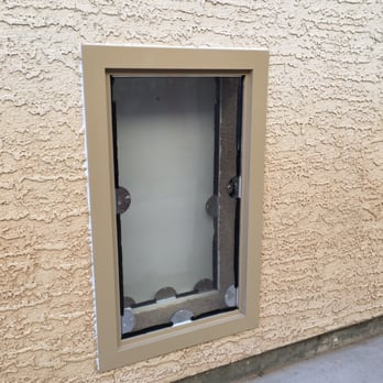 Photo of JGM Pet Doors - Surprise AZ United States. Beige on the : dogie doors - pezcame.com