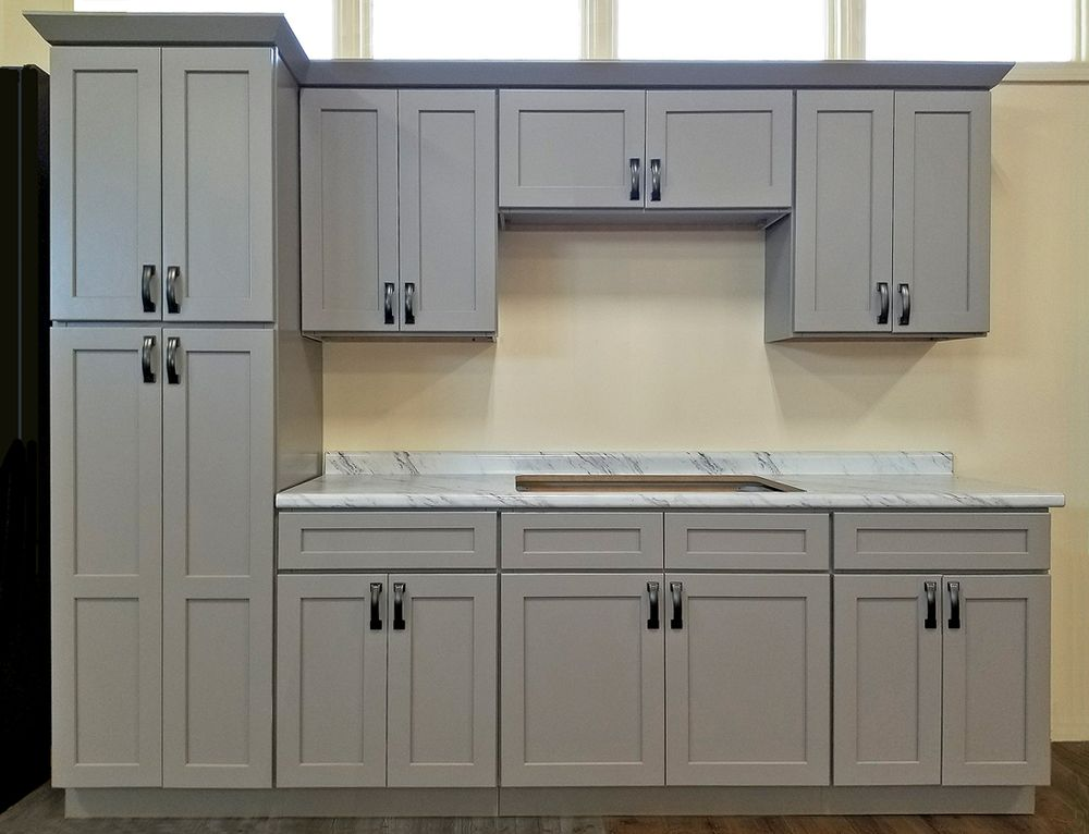 Stone Harbor Gray Kitchen Cabinets