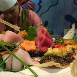 Mizu Hibachi & Sushi - New City, NY, United States. Chef Jimi's a la carte sashimi