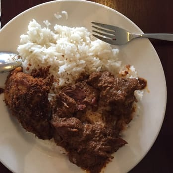 Photo Of Nelayan Indonesian Restaurant Melbourne Victoria Australia Fried Chicken And Beef Rendang