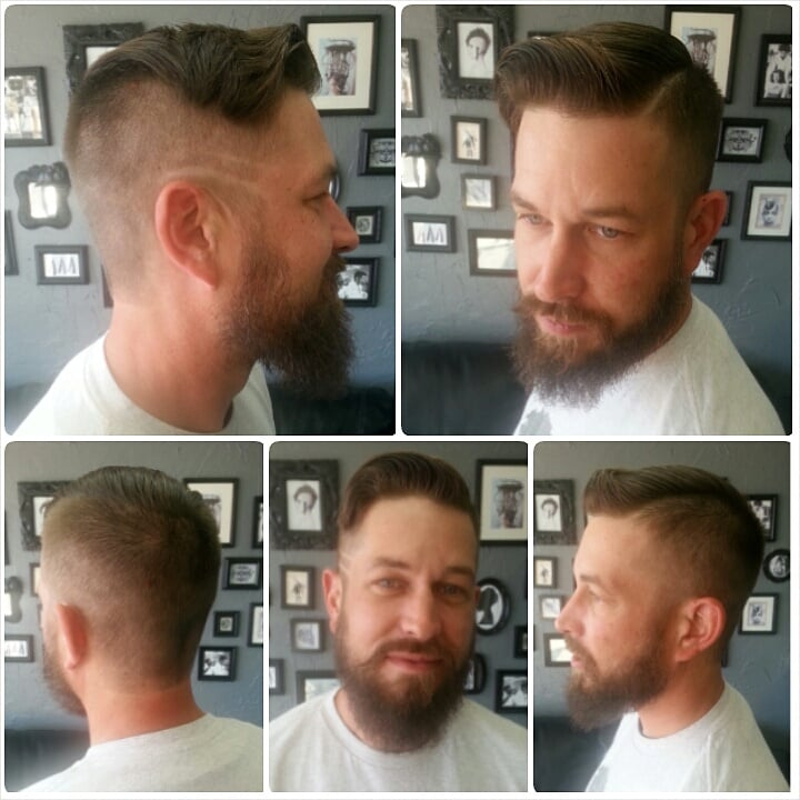 Mens Haircut With High And Tight Undercut With Hard Part Yelp