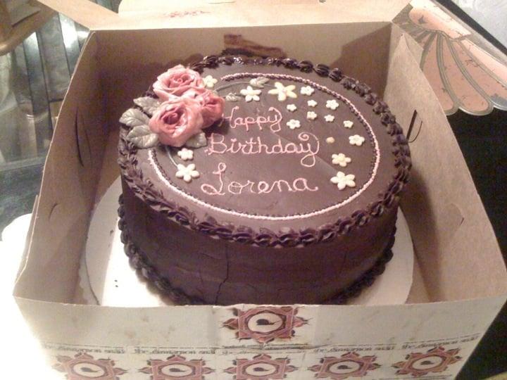 Cinnamon Snail Birthday Cake