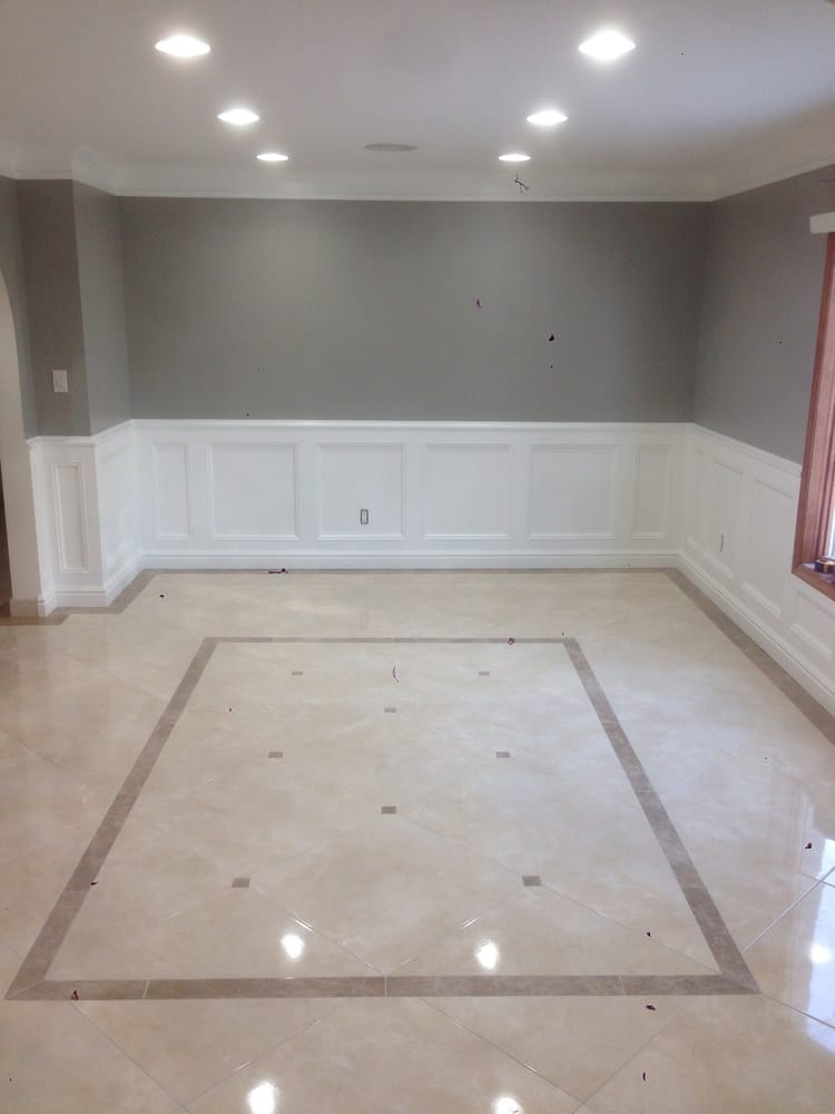Formal Dining Room With Custom Made Tile Design
