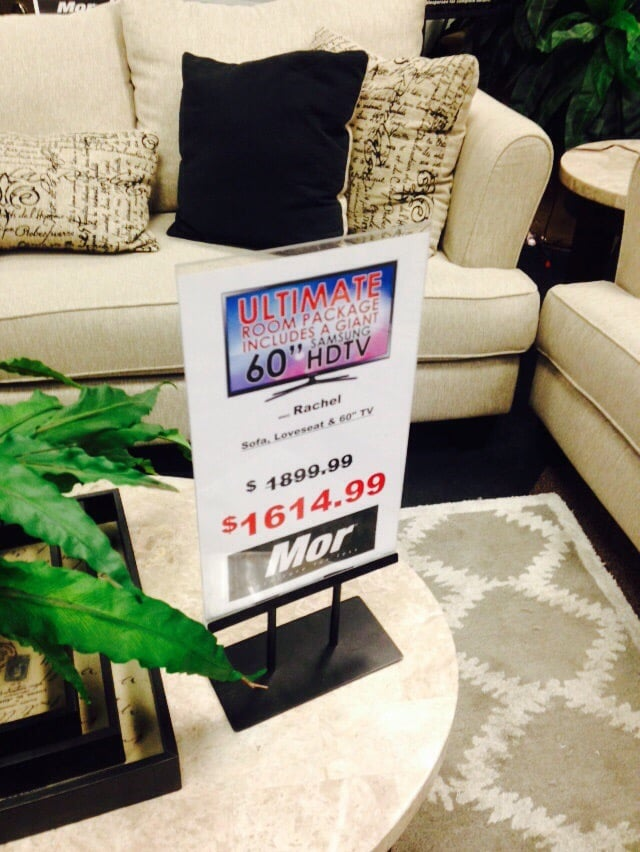60 tv w purchase of set yelp for Mor furniture for less