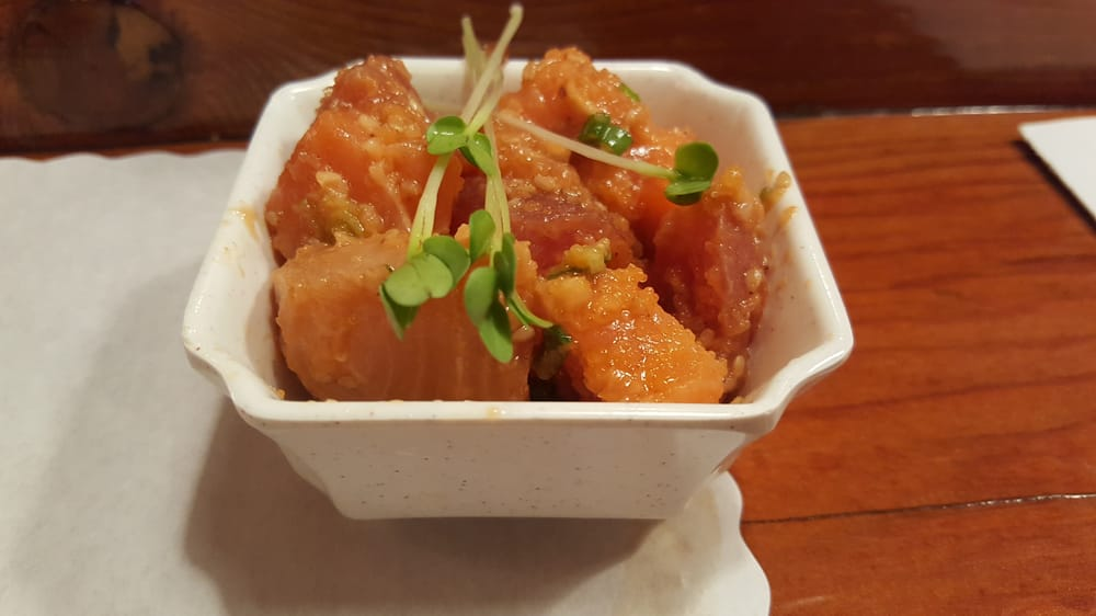 Mixed fish with sesame yelp for Akasaka japanese cuisine