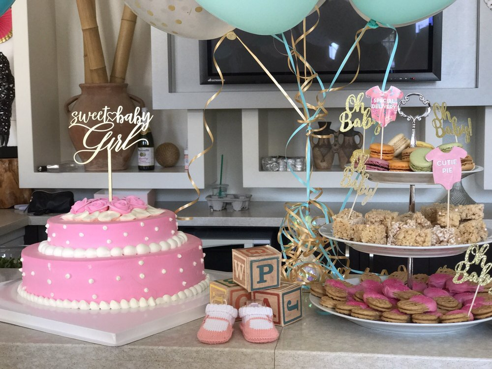 2 Tier Pink Baby Shower Cake From Paris Baguette The Cake Topper