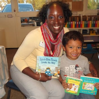Photo of Iliff Preschool, Kindergarten, and School-Age Summer Camp - Denver, CO, United States. Sharing favorite books with the class