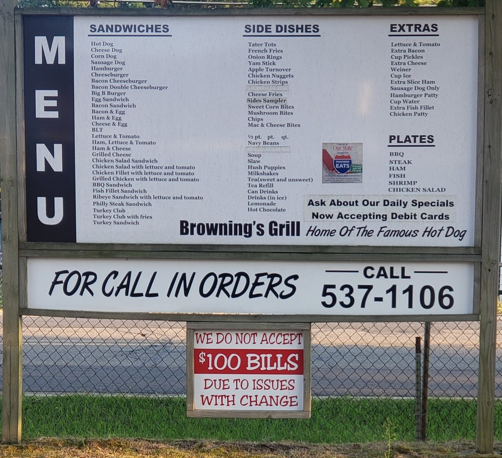Browning's Grill: 2066 W 10th St, Roanoke Rapids, NC