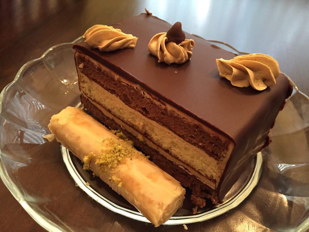 Cake And Art Yelp : Mocha Cake and Lady Finger Baklava with Cashews - Yelp