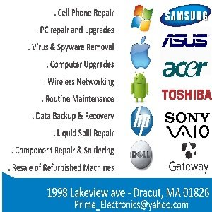 Prime Electronics: 1998 Lakeview Ave, Dracut, MA