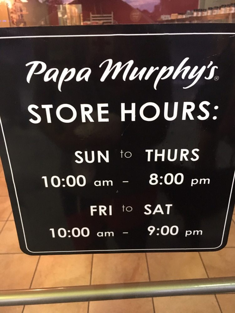 Find a Papa Murphy's near you or see all Papa Murphy's locations. View the Papa Murphy's menu, read Papa Murphy's reviews, and get Papa Murphy's hours and directions/5(19).