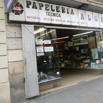 Papeler a algara material de oficina carrer de for Material oficina barcelona