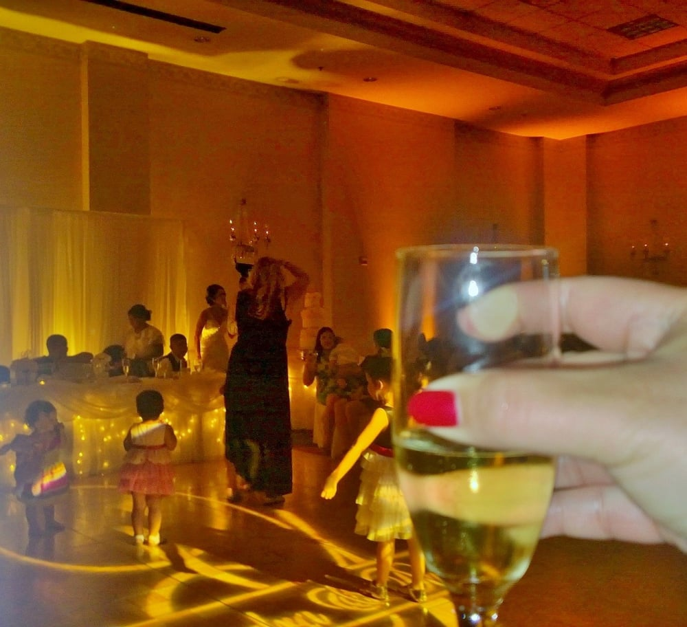Cheers to the beautiful couple! - Yelp