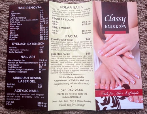 Classy Nails And Spa 2827 N Dal Paso St Ste 122 Hobbs NM Hair Removing