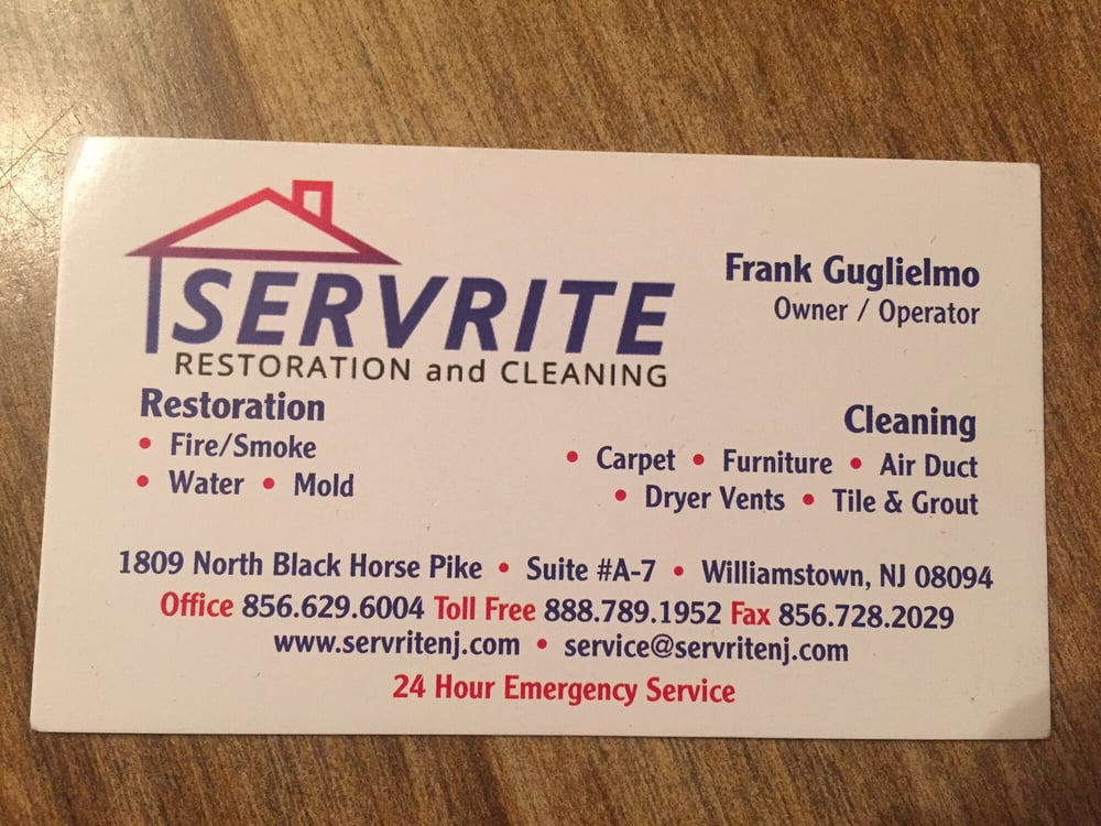Servrite Restoration: 1809 N Black Horse Pike, Williamstown, NJ