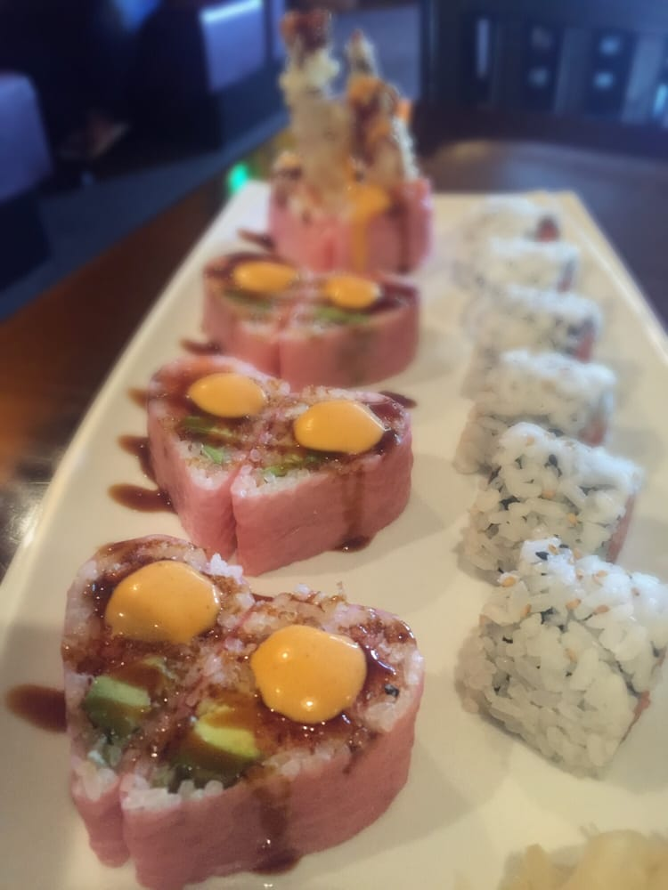 Volcano roll and spicy tuna yelp for Asia sushi bar and asian cuisine mashpee