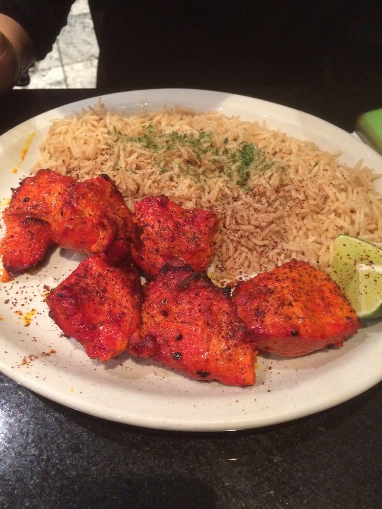 Chicken kabob with seasoned basmati rice yelp for Aryana afghan cuisine