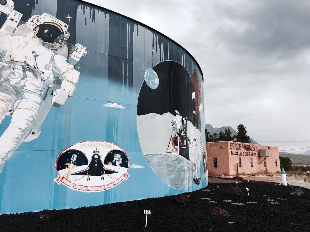 Space Murals: 12450 E US Hwy 70, Las Cruces, NM