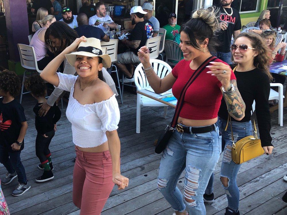 Girls dancing in Daytona