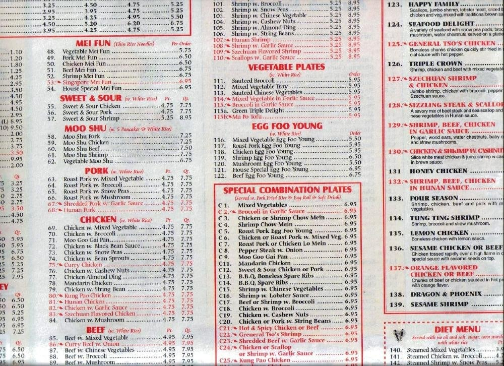 Chinese Kitchen Menu Baton Rouge