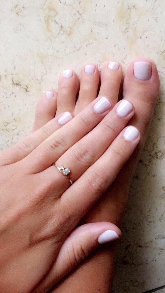 Funny Bunny gel polish manicure and regular polish pedicure! - Yelp