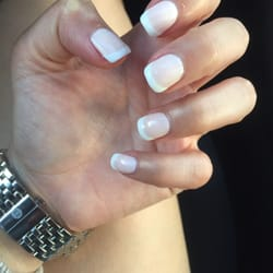Color gel glamour nails