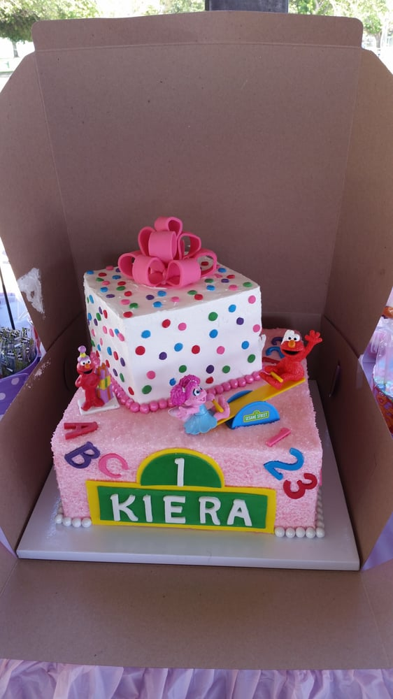 My Daughters 1st Birthday Elmo And Abby Cadabby Cake Two Tier For