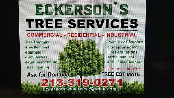 photo of eckerson tree service los angeles ca united states business card - Tree Service Business Cards