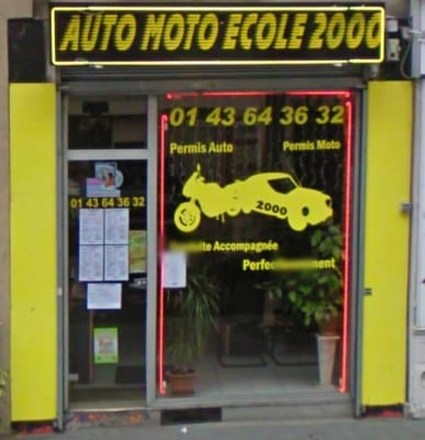 auto moto ecole 2000 driving schools 167 rue bagnolet gambetta port de bagnolet paris. Black Bedroom Furniture Sets. Home Design Ideas