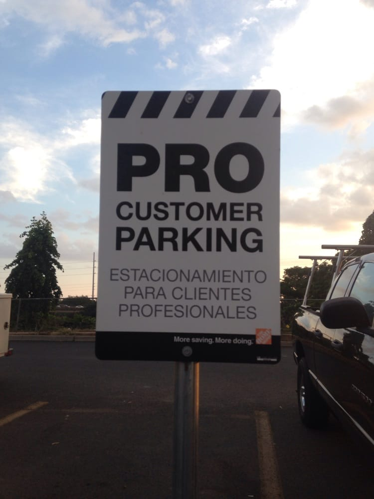 Pro Customer Parking Upfront For Those Who Are Pro Contractor