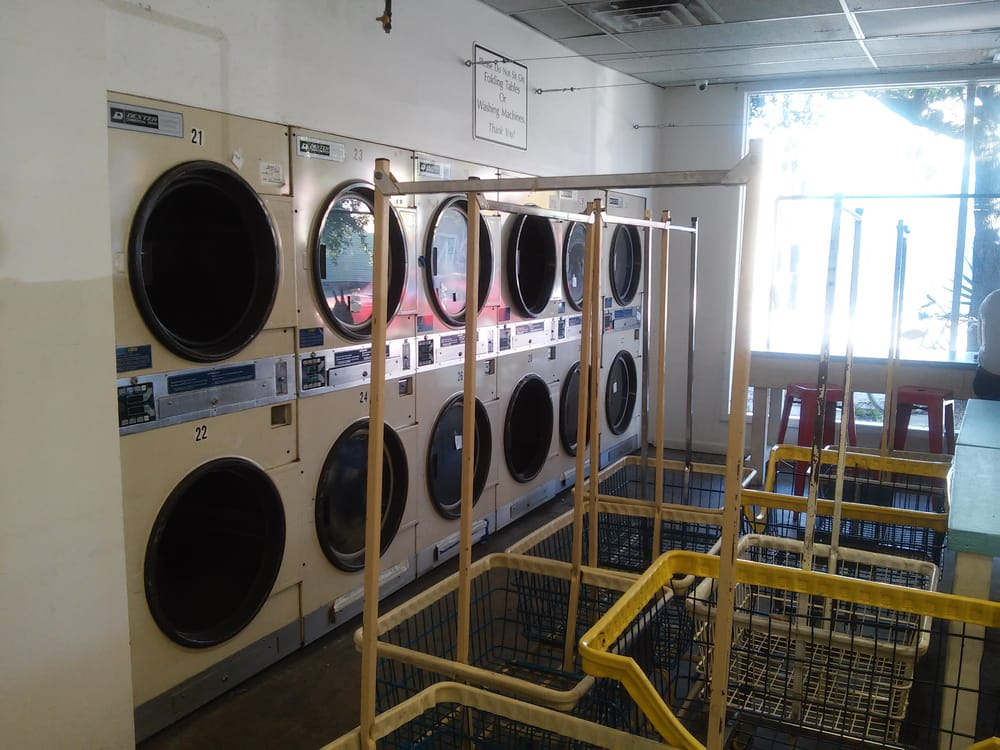 Wall of dryers with one working unit  - Yelp