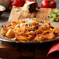 Photo Of Bertucci S Italian Restaurant Woburn Ma United States Scallops Shrimp