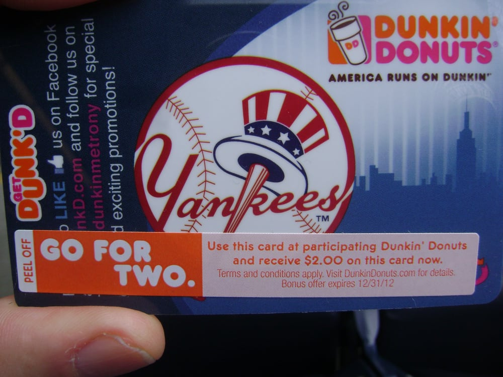 Photo of Yankee Stadium - Bronx, NY, United States. Dunkin Donuts Gift Card