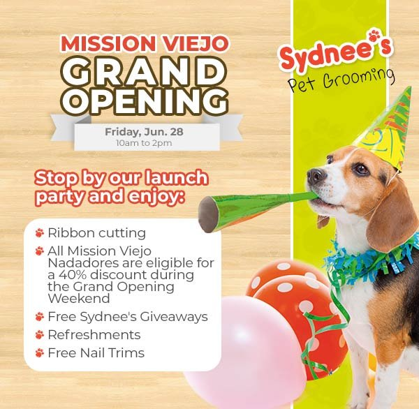 Sydnee's Pet Grooming Mission Viejo