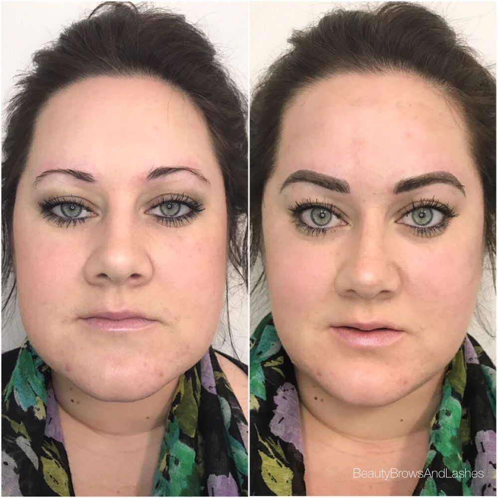 3D microblade eyebrow tattoo before and after - Yelp