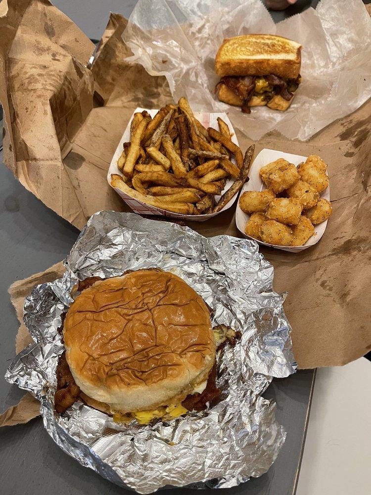Busloop Burgers: 10462 St Charles Rock Rd, Saint Louis, MO