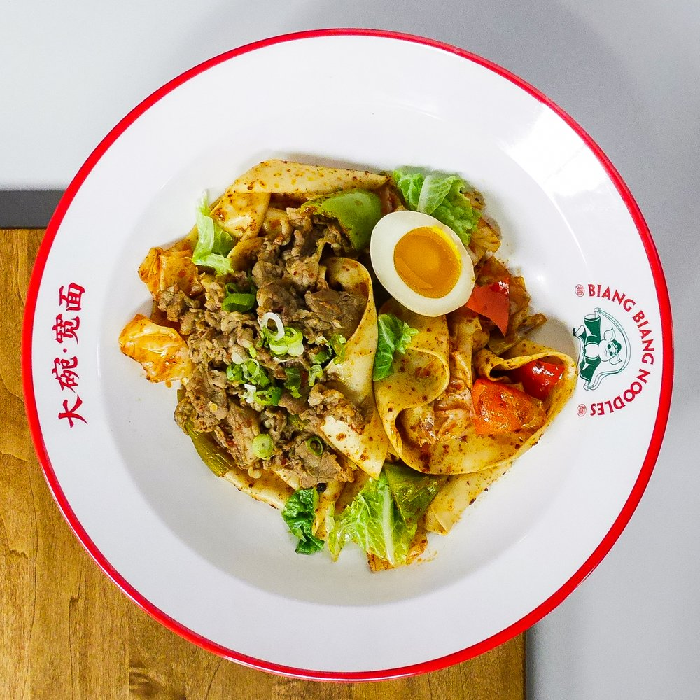 Food from Biang Biang Noodles