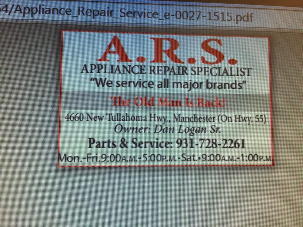 ARS: 4660 New Tullahoma Hwy, Manchester, TN