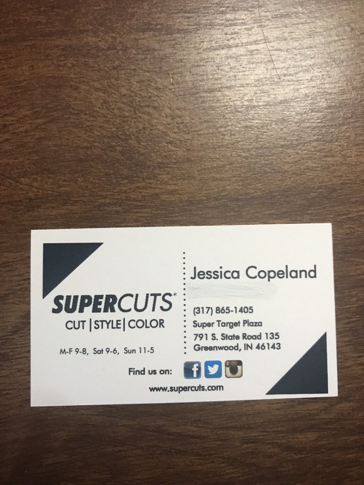 Her business card she is great yelp photo of supercuts greenwood in united states her business card she reheart Image collections