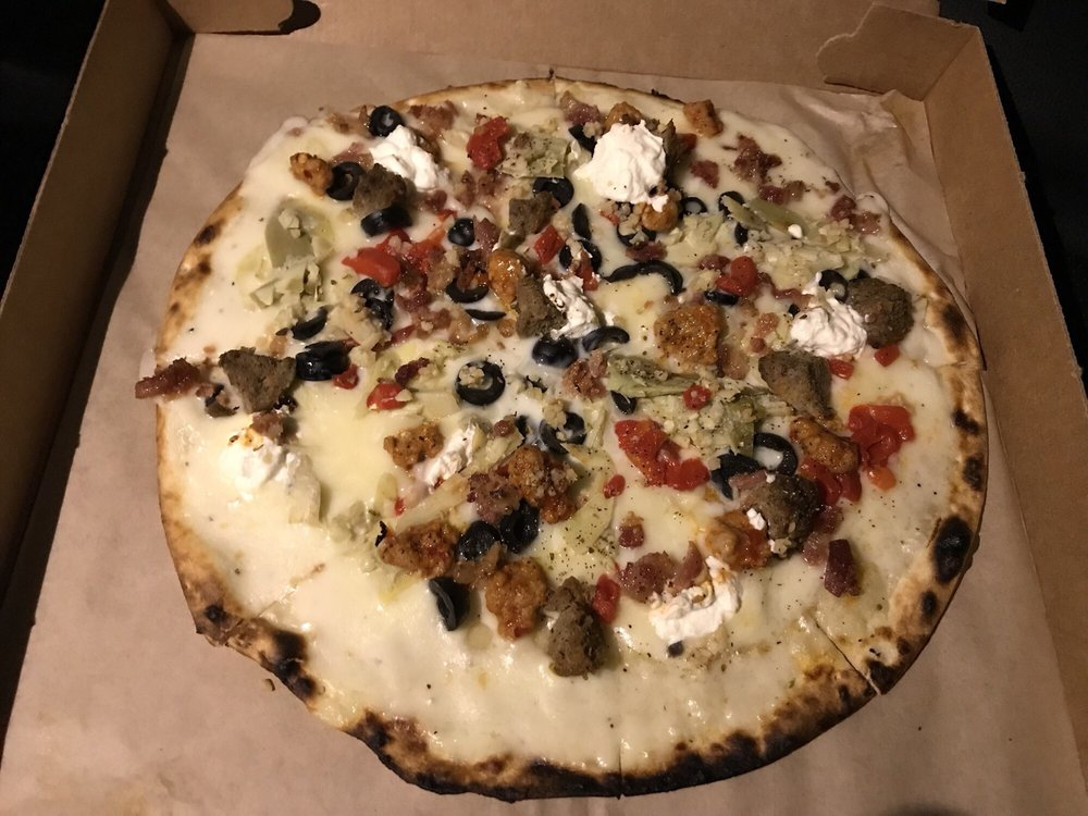 Food from Pure Fire Pizza
